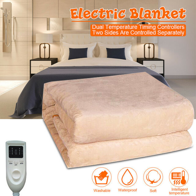 Queen Size Anticreep Rapid Heating Electric Heated Blanket Timing
