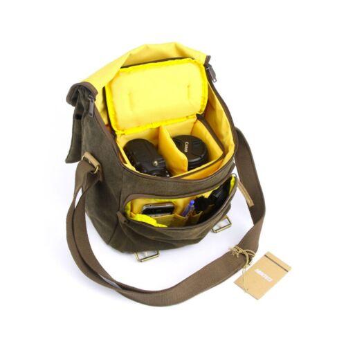 NN2 Lona de hombro mensajero bolso de la Cámara para Sony Alpha A37 A57 A65 A77 A99 A58