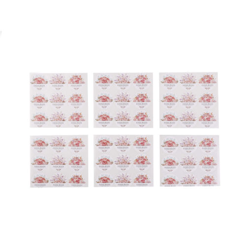 54 pcs//lot Hand made Flower Sticker Labels food Seals for Wedding party gift R