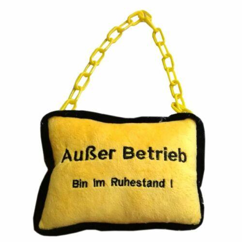 """Plüsch Kissen /""""Außer Betrieb//Ruhestand/"""" Plüschkissen Relaxkissen Ruhekissen"""