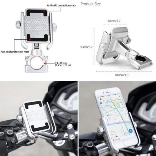 Aluminum Bike Motorcycle Handlebar 360° Rotating Mount Holder for 4''-6'' Phone