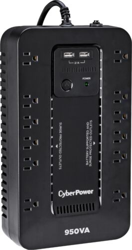 Black CyberPower 950VA Battery Back-Up System