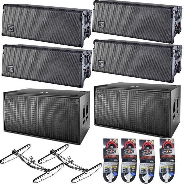 (4) DAS Audio EVENT 208A Powered Line Array Speakers + (2) 218A Dual 18