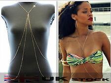 Sexy Body Belly Waist Chain Bikini Crossover Beach Harness Necklace C0047