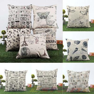 45cm x 45cm Simple Cotton Linen Cushion Cover Throw Pillow Case Sofa Home Decor