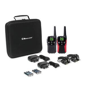 midland g5c 2er kofferset pmr walkie talkies mit lader 2. Black Bedroom Furniture Sets. Home Design Ideas