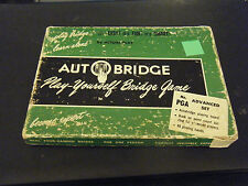 Vintage Auto Bridge Play-Yourself Bridge Game No. PGA Advanced Set Group 19
