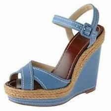 Christian Louboutin ALMERIA Platform Espadrille Wedge Heel Sandals Shoes 40 $535