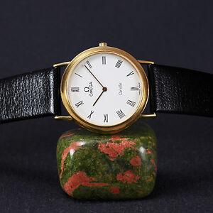 1990-039-s-Omega-Swiss-039-DeVille-039-Unisex-Dress-Watch-Omega-Cal-1377