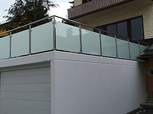 Balkongelander Edelstahl Vsg Glas Balkon Gelander Ebay