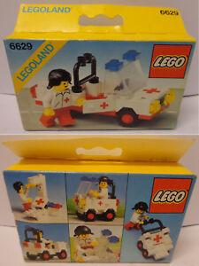 Vintage-Game-Gioco-LEGO-Citta-Town-Set-6629-New-Nuovo-1981-Macchina-Ambulance