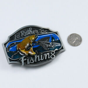 I/'d Rather be fishing belt buckle