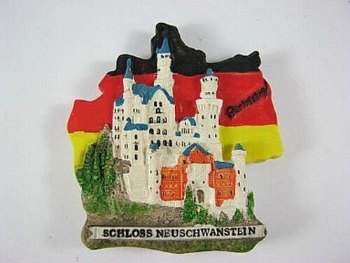 Schloss Neuschwanstein Deutschland Karte Souvenir Polyresin Magnet,Germany