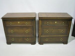 Image Is Loading PAIR Baker Furniture Biedermeier Style 3 Drawer Chests