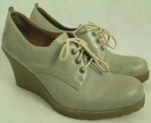 DR-MARTENS-MIMI-WOMEN-039-S-GRAY-LEATHER-WEDGES-SIZE-8US-6UK-39EU-VGC
