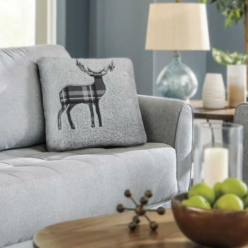 Solid Colours Stag Teddy Fleece Cushion Covers Pillow Cover Case Car Sofa Bed