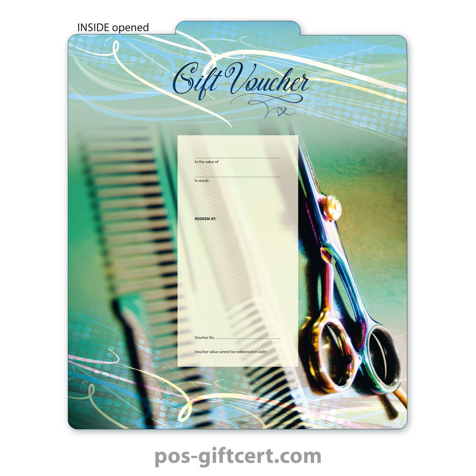 Gift vouchers for hair salons, hairdressers, hairstylists K286GB | Kaufen Sie online  | Modisch