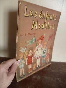 I-Bambini-Modelli-Per-S-Dacam-Casa-Hachette-Parigi-Illustre-Colore-IN-Folio