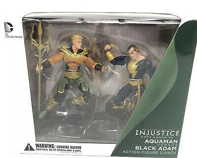 BLACK ADAM Action Figure 2-Pack *NEW* DC Collectibles AQUAMAN VS