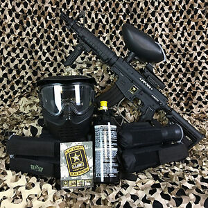 Tippmann Us Army Alpha Black Elite Tactical Foxtrot Paintball Gun Package Kit Ebay