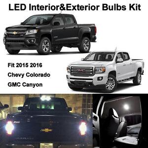 17 x white led interior exterior light bulbs for 2015 2016 2017 canyon colorado ebay for Chevy colorado interior lights