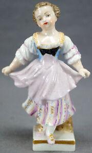 Meissen-Marcolini-Period-Hand-Painted-4-1-4-Inch-Girl-Figurine-Circa-1774-1817