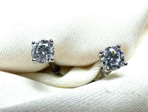 3 mm große Steine neu rhodiniert Bergkristall Ohrstecker 925 Silber fac ca