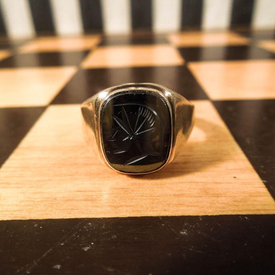 Fingerring, guld, Herre 8 karat guld ring