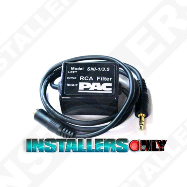Black PAC Ground Loop Isolator for 3.5 Mm Applications