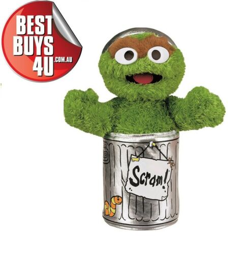 SESAME STREET OSCAR THE GROUCH SMALL SOFT PLUSH TOY 25CM
