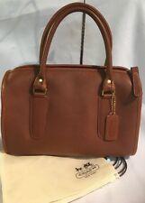 *Rare* Vintage 1980s NYC Coach Brown Madison Small Speedy Satchel Handbag 0742