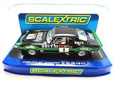 "Scalextric ""Brut 33"" Chevrolet Camaro DPR W/ Lights 1/32 Slot Car C3612"