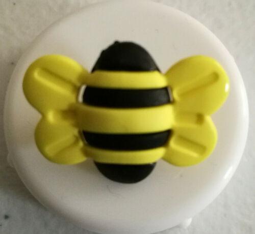 Bourdon jaune et noir boutons en forme de tige taille 26 mm Nouveauté