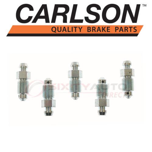 Carlson Front Brake Bleeder Screw for 1984-2013 Chevrolet Corvette Pad pg
