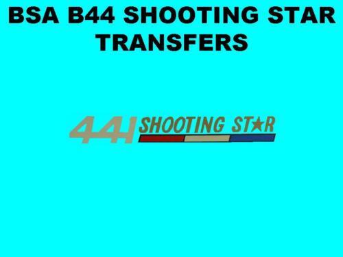 BSA B44 Shooting Star Side Panel Transfer Decal 1970