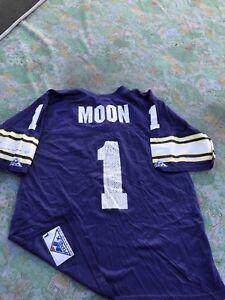 Vintage 90s Minnesota Vikings WARREN MOON  1 NFL Jersey Men s Size ... bbd2e50f2
