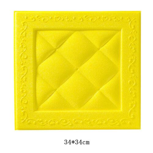 3D Waterproof Wallpaper Brick Stone DIY Wall Sticker Home Living Room Decorative