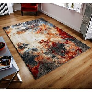 Art Deco Style Modern Bright Coloured Thick Super Soft Rugs Now 30