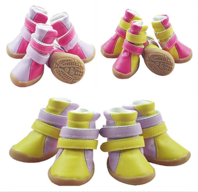 New Good Cozy Pet Dog Boots Puppy PU Leather Waterproof Shoes For Small Dog