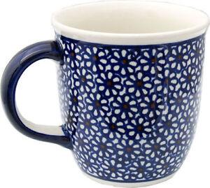 Polish Pottery Coffee Mug 12 Oz. GU1105/120 from Zaklady Boleslawiec