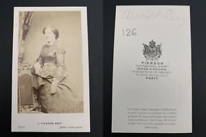 Pierson-Paris-Jeanne-Arnoult-Plessy-Vintage-carte-de-visite-CDV-Jeanne-Syl