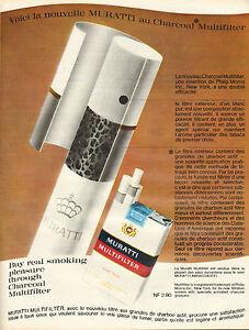Publicite-Advertising-1966-Cigarettes-MURATTI-MULTIFILTER