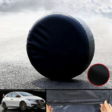 """27""""-30"""" SPARE TIRE COVER FOR JEEP TRAILER RV SUV TRUCK BLACK SOFT VINYL"""