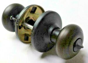 NEW 2 Pack Kwikset Venetian Bronze Privacy Cove Door Knob Bed Lock 93001-933