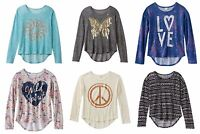 Mudd Girl's Plus Size High-low Sweater Knit Top Scoop Neck Long Sleeve $32