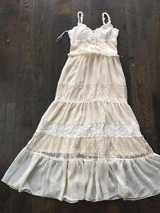 Liz Lisa Cream Maxi Dress Brand New One Size Authentic XS/S