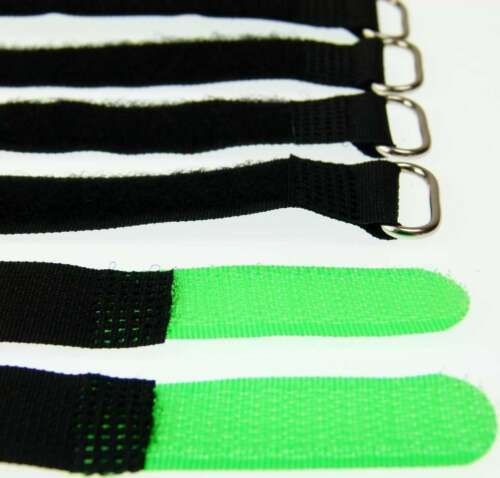 30 x Klett Kabelbinder 160 x 16 mm neongrün Kabelklettband Kabelklett Klettband