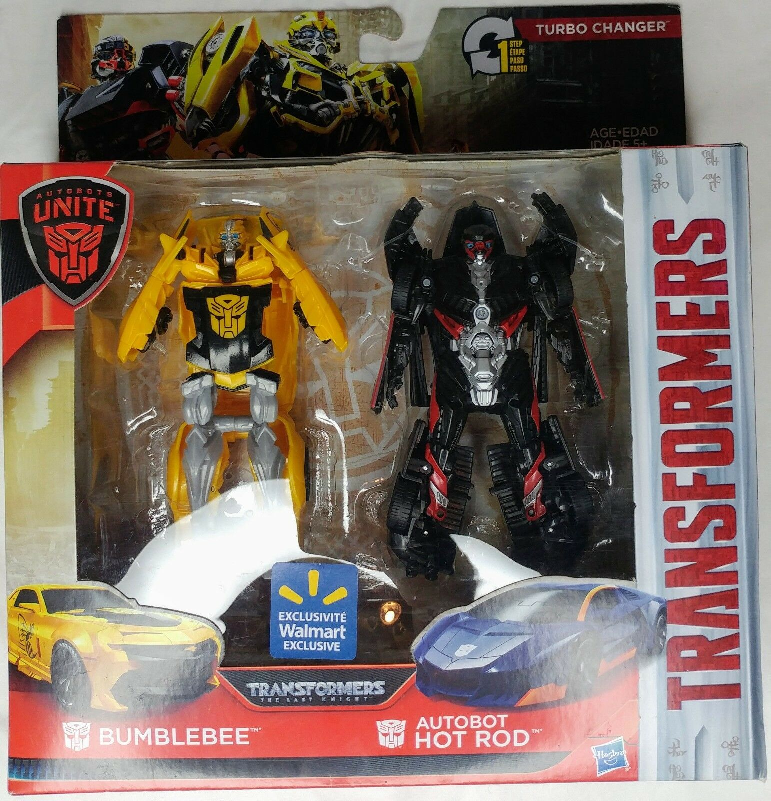 TRANSFORMERS BUMBLEBEE HOT ROD AUTOBOTS UNITE WALMART EXCLUSIVE 1-STEP CHANGERS