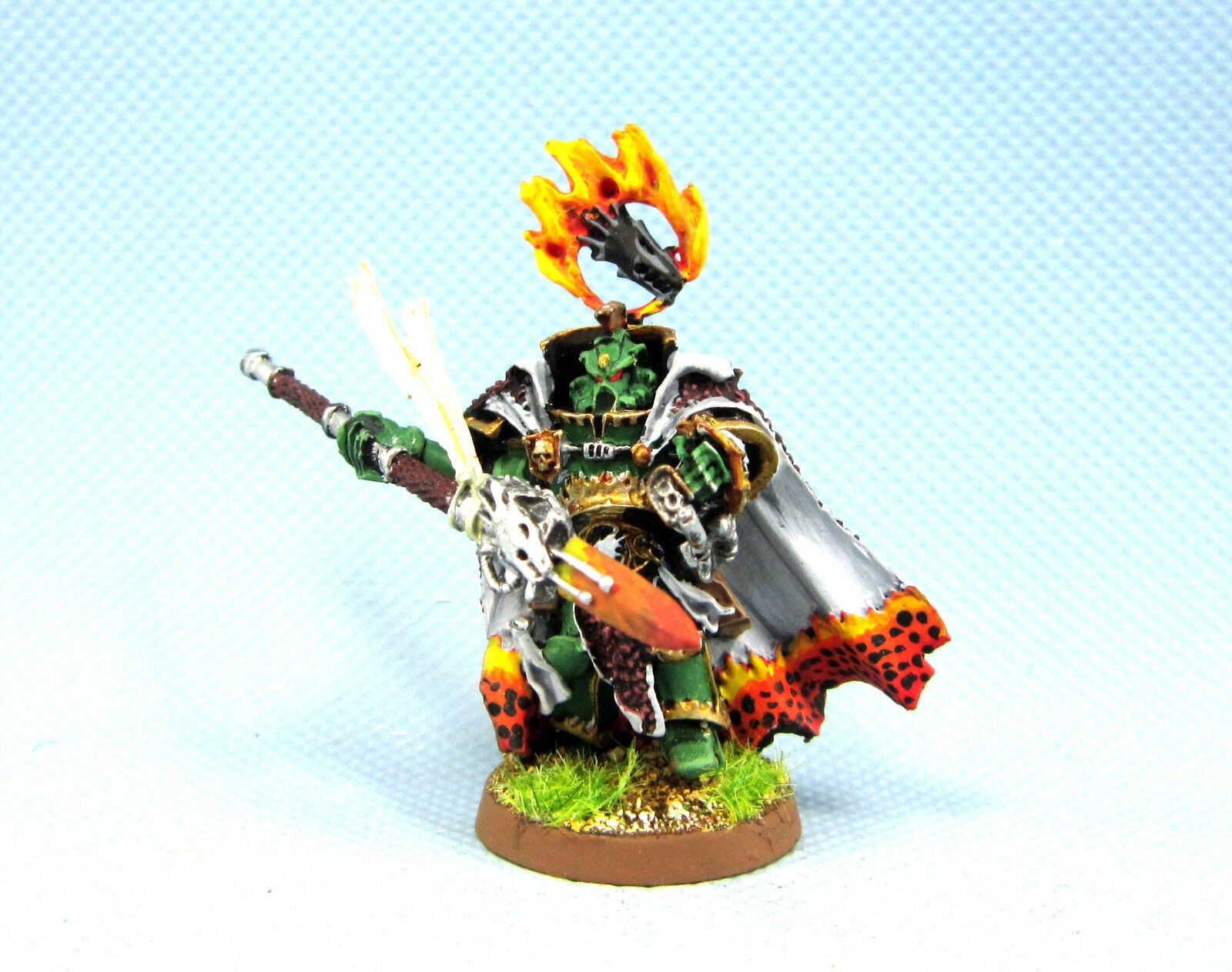 25mm Warhammer 40K WGS painted Forgefather Vulkan He'stan SM056
