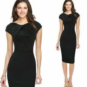 Elegant-Womens-Office-Formal-Sleeveless-Party-Sheath-Tunic-Pencil-Mini-Dress